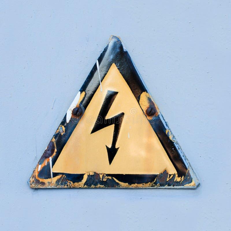 Het Gevaar van het de veiligheidsteken van de waarschuwing van elektrische schok. royalty-vrije stock foto