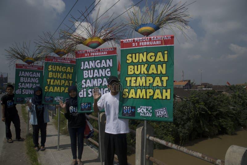 HET GEVAAR VAN HET HET AFVALbeheer VAN INDONESIË royalty-vrije stock foto