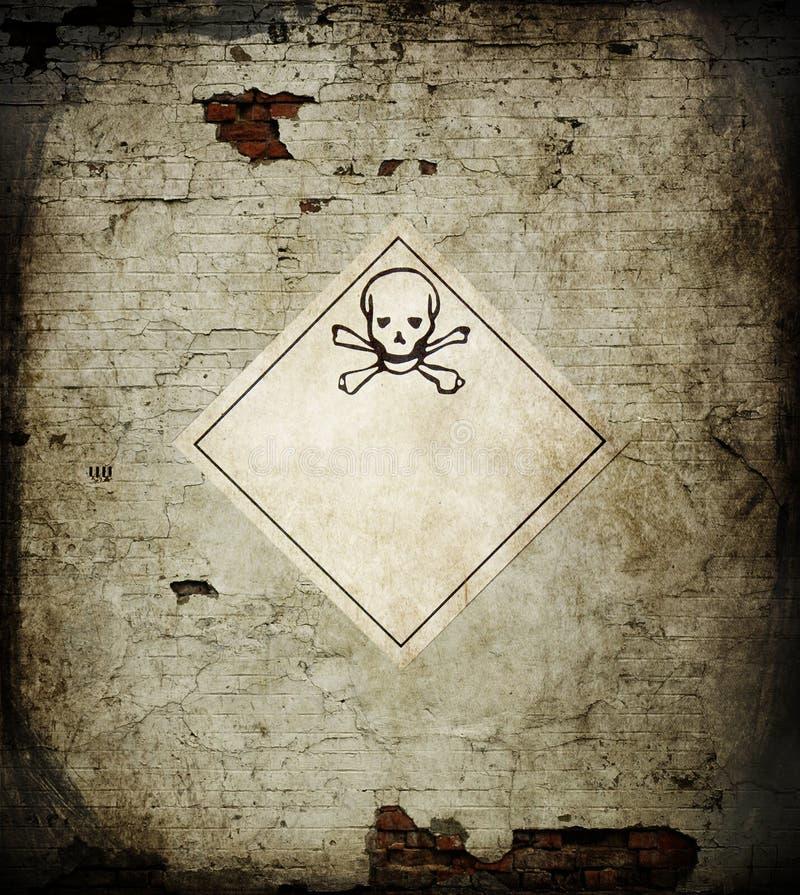 Het gevaarsschedel van het teken stock illustratie