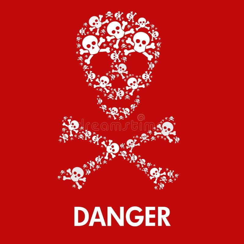 Het gevaarsteken van de schedel royalty-vrije illustratie