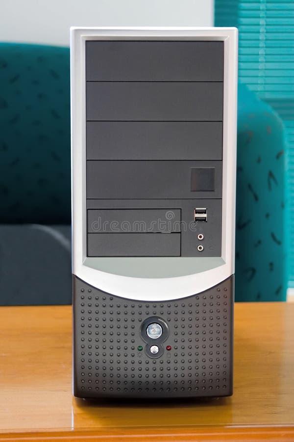 Het geval van de computer stock foto