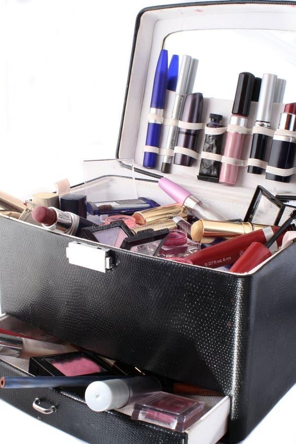 Het geval van de make-up stock fotografie