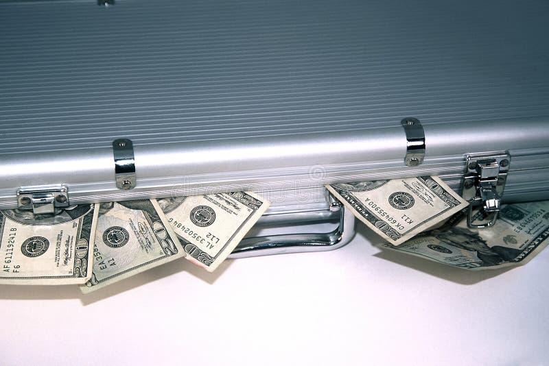 Het Geval van het geld stock afbeelding