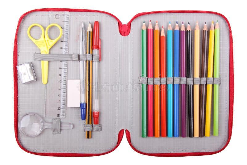 Het geval van het potlood stock foto