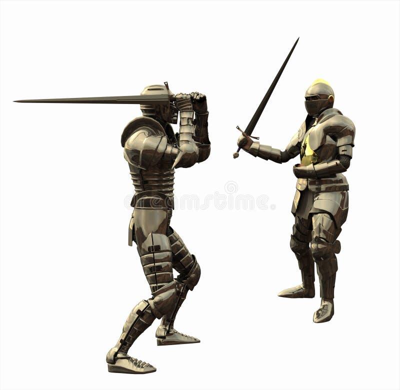 Het Gevecht van de ridder vector illustratie