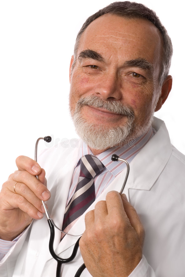 Het geven arts het glimlachen royalty-vrije stock afbeeldingen