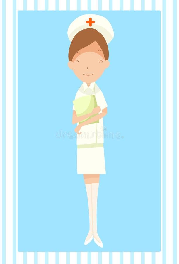 Het geven en Verzorging in het Ziekenhuis vector illustratie