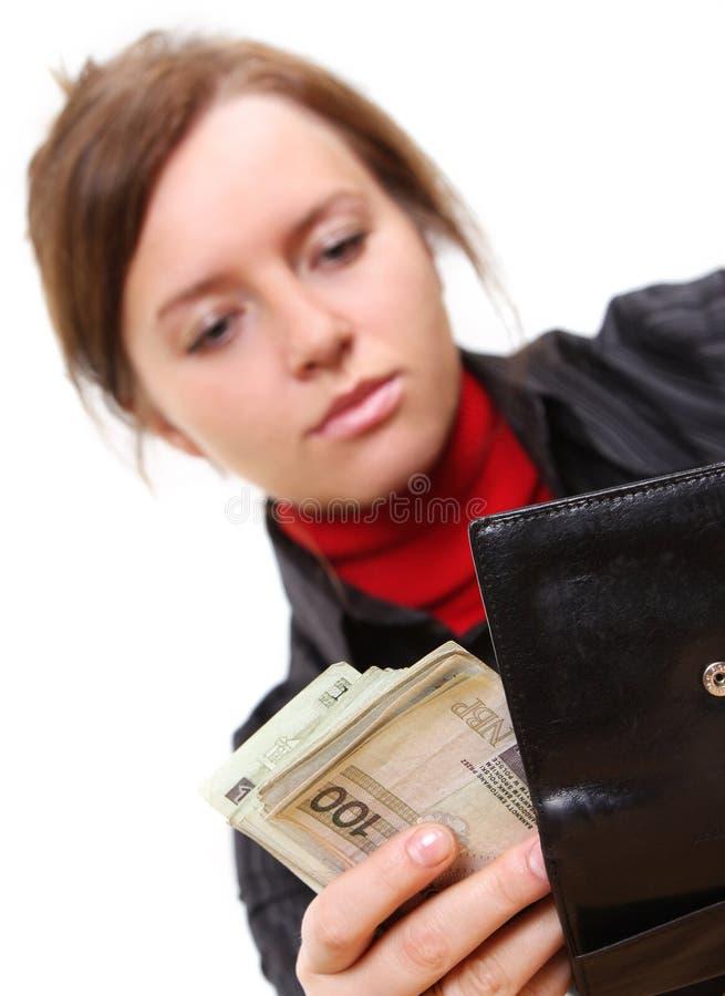 Het geven van geld stock foto's