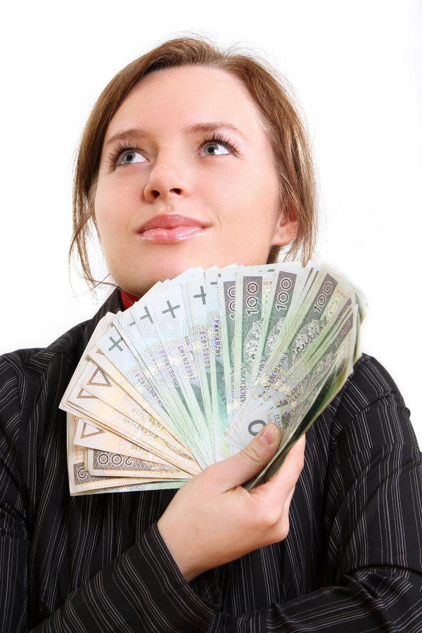 Het geven van geld royalty-vrije stock afbeelding