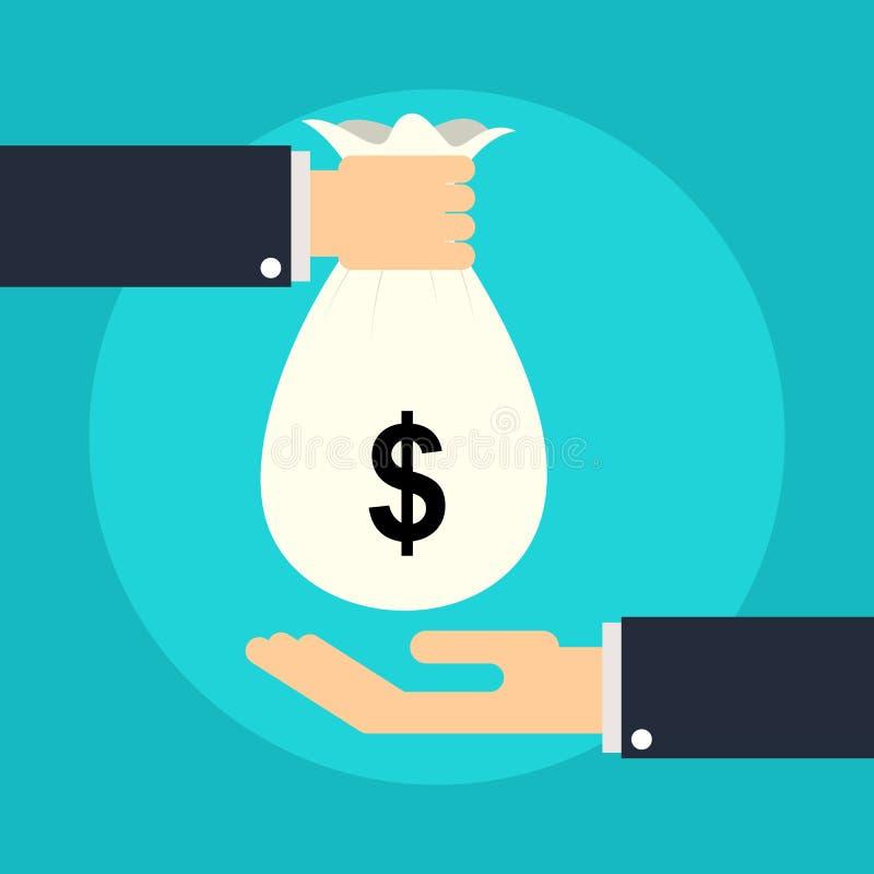 Het geven van geld stock illustratie