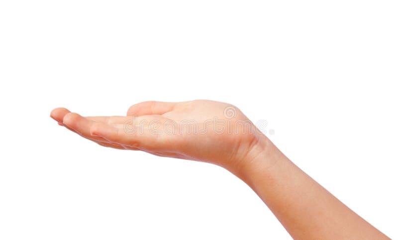 Het geven van hand stock foto