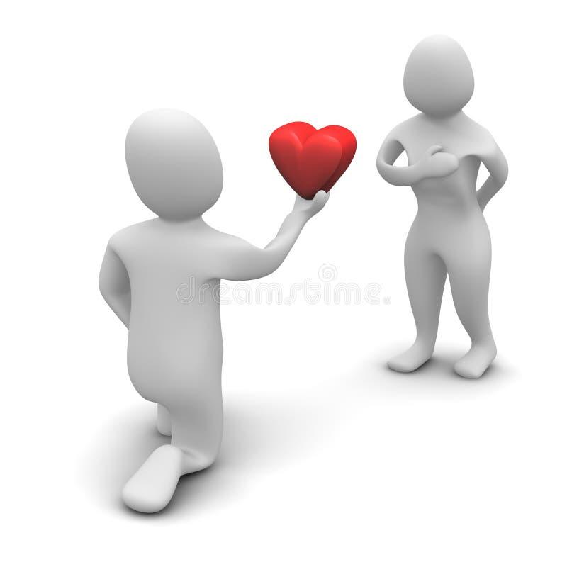 Het geven van hart stock illustratie