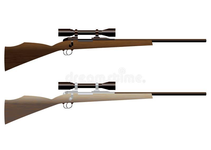 Het geweer van de jacht royalty-vrije illustratie