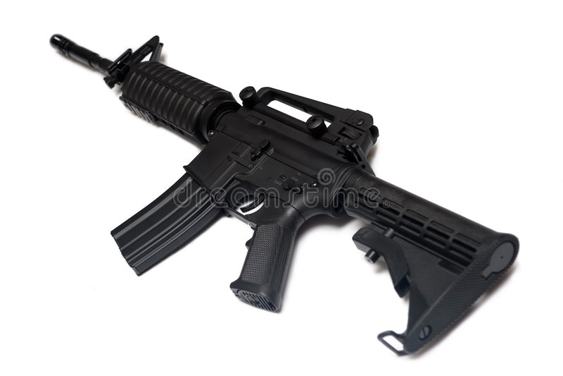 Het geweer van het Leger van de V.S.M4A1. Het speciale wapen van Krachten. stock fotografie
