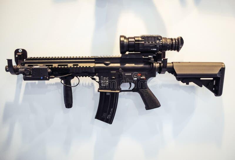 Het geweer van HK416 CQB stock afbeelding
