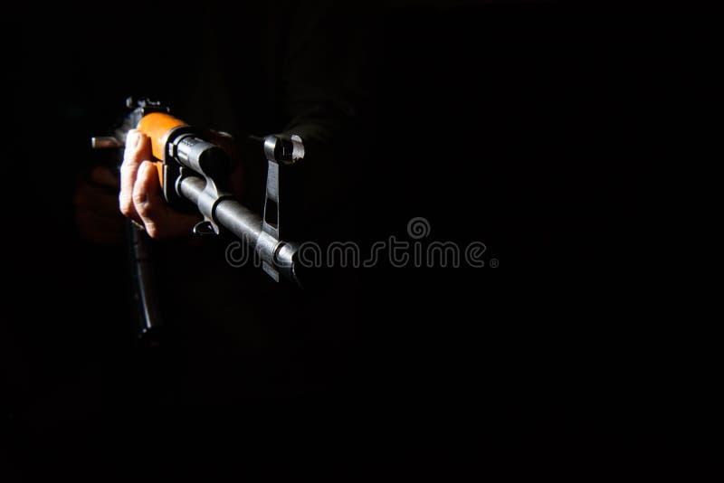 Het geweerclose-up van de kalashnikovaanval stock afbeeldingen