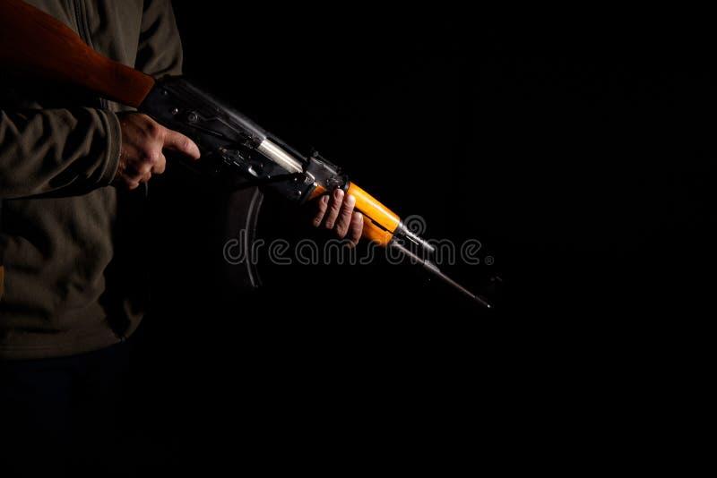 Het geweerclose-up van de kalashnikovaanval stock afbeelding