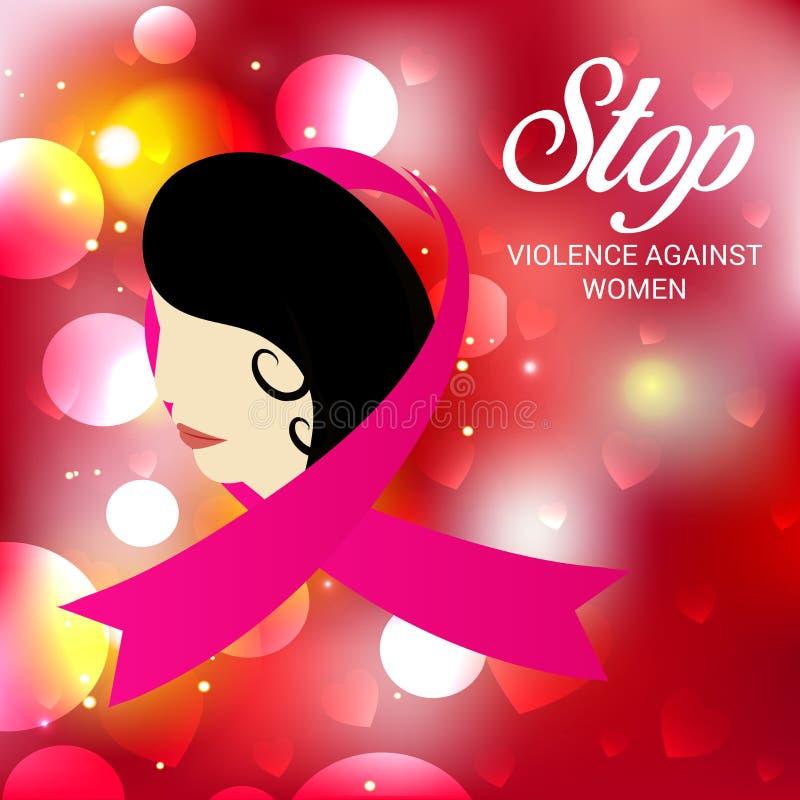 Het geweld van het einde tegen vrouwen stock illustratie