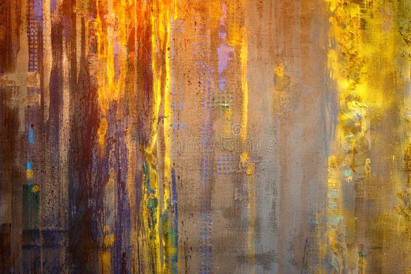 Het geweven abstracte schilderen Hand Geschilderde Achtergrond royalty-vrije stock foto