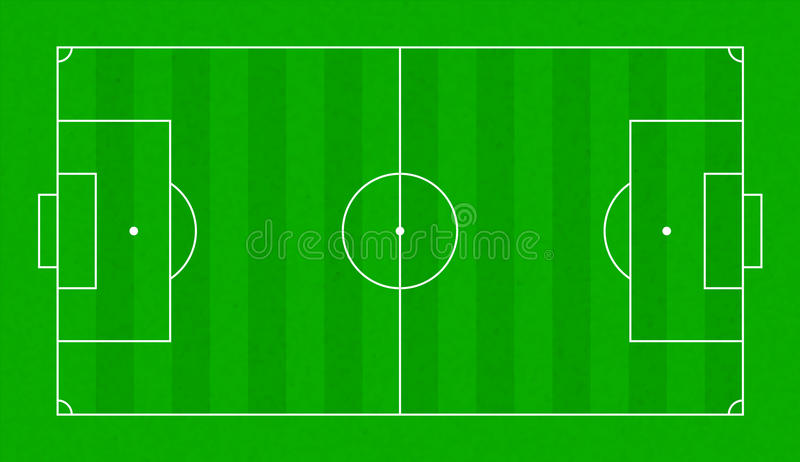 Het geweven gebied van het grasvoetbal Voetbal groen gebied vector illustratie
