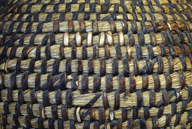 Het Geweven houten patroon royalty-vrije stock foto's