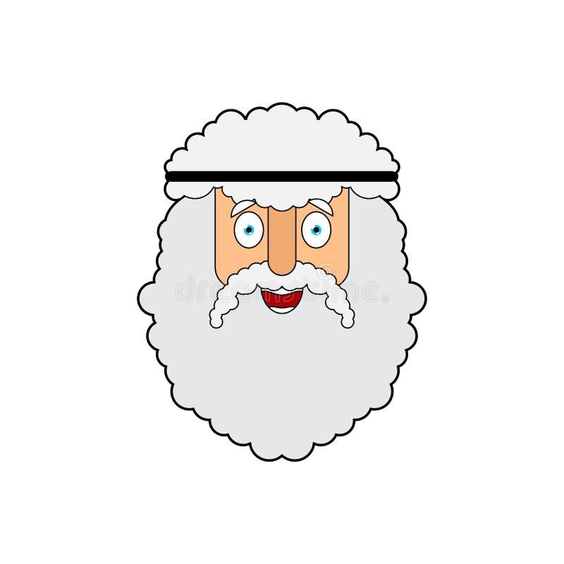 Het gezicht van Archimedes Oude Griekse wiskundige, fysicus vectorillustratie vector illustratie