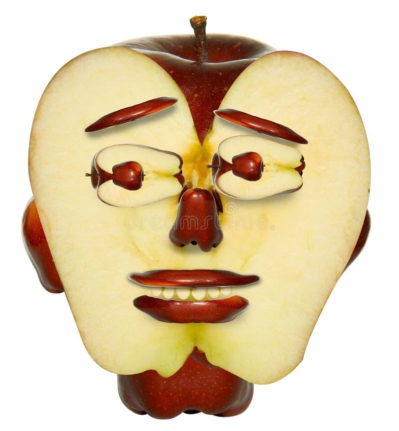 Het gezicht van de appel vector illustratie
