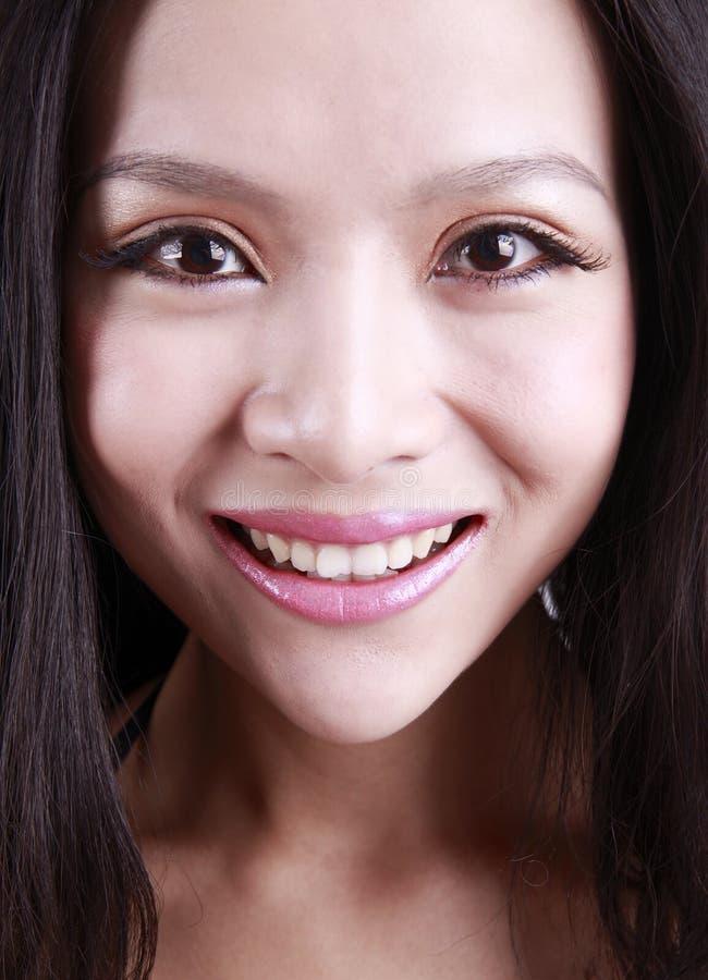 Het gezicht van de Aziatische vrouw royalty-vrije stock fotografie