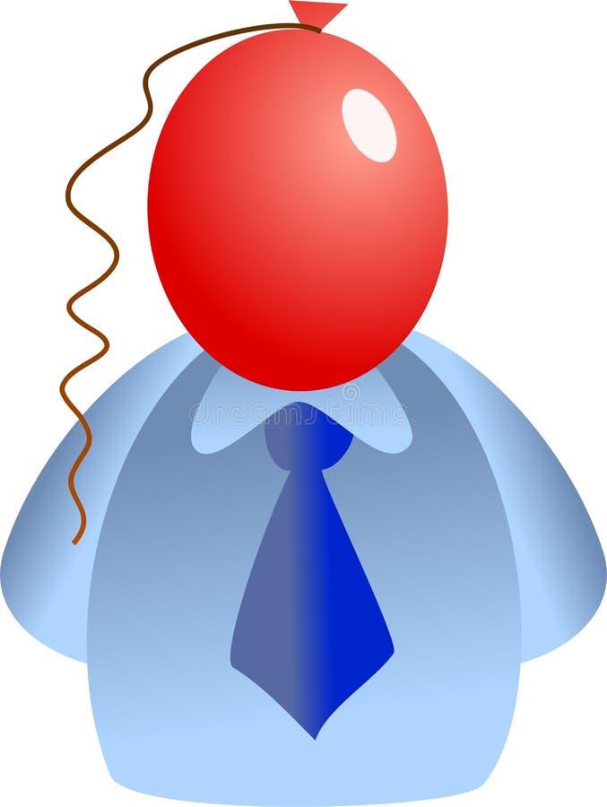 Het gezicht van de ballon vector illustratie