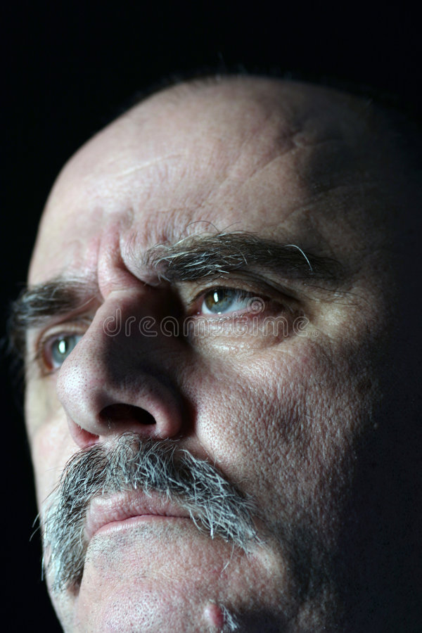 Het gezicht van de berisping stock afbeelding