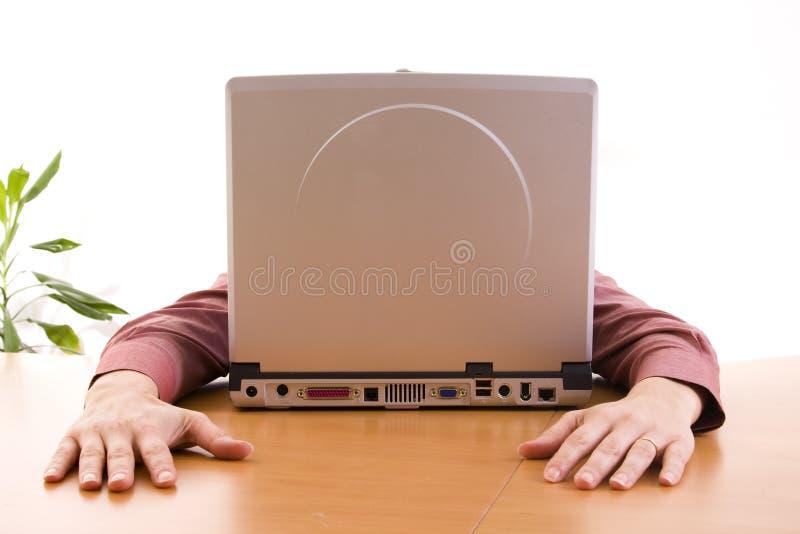 Het gezicht van de computer stock foto