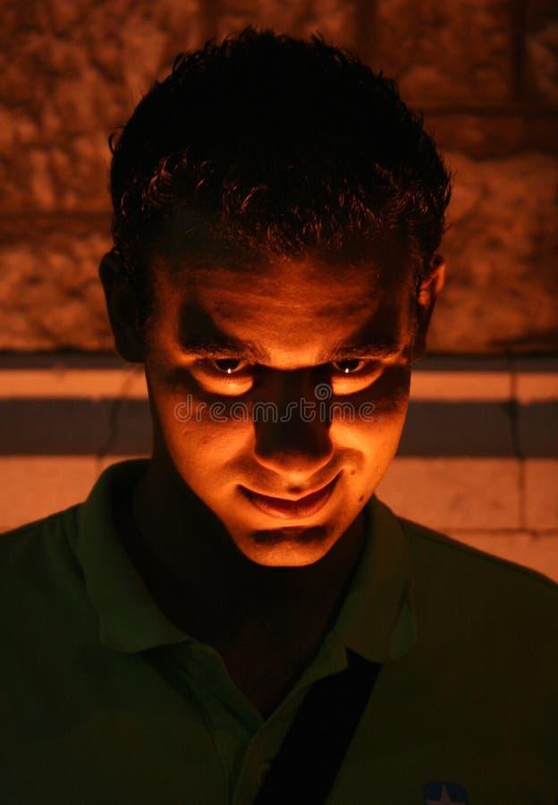 Het gezicht van de duivel stock afbeelding