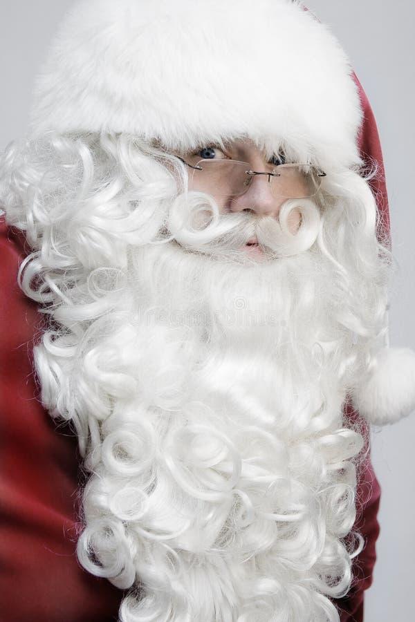 Het Gezicht van de Kerstman stock afbeeldingen