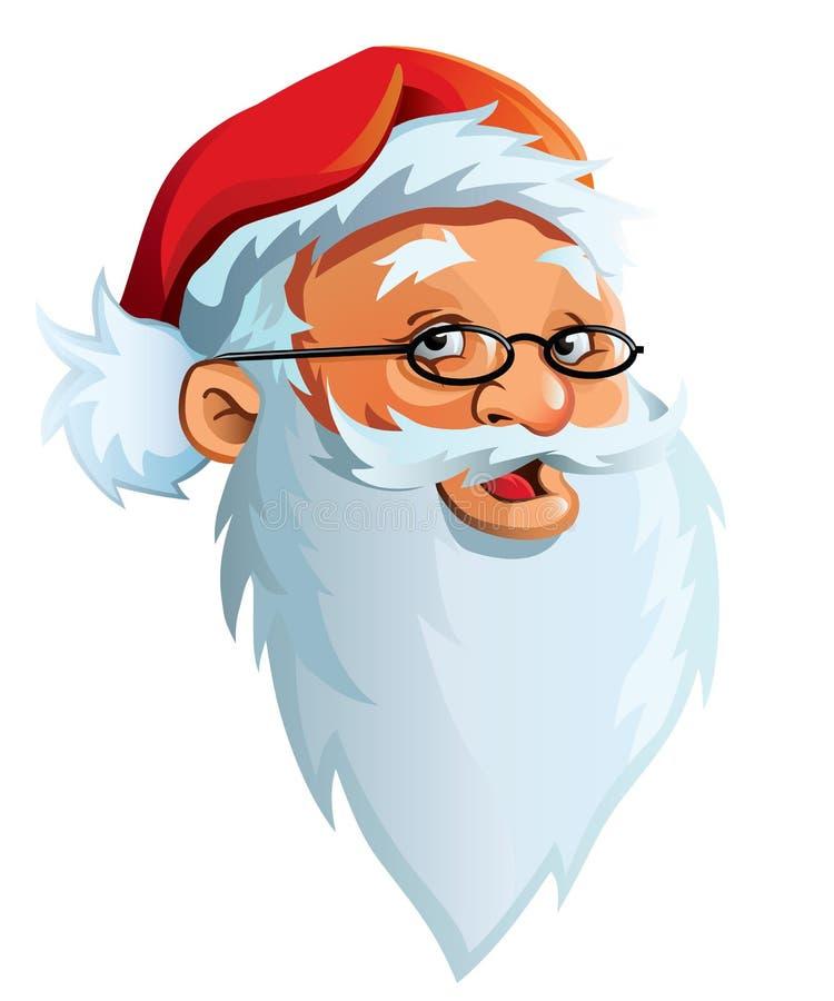 Het gezicht van de Kerstman vector illustratie