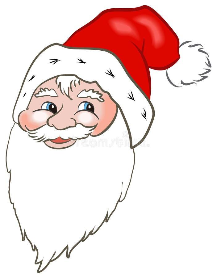 Het Gezicht van de Kerstman stock illustratie
