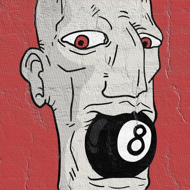 Het gezicht van de poolmens stock illustratie