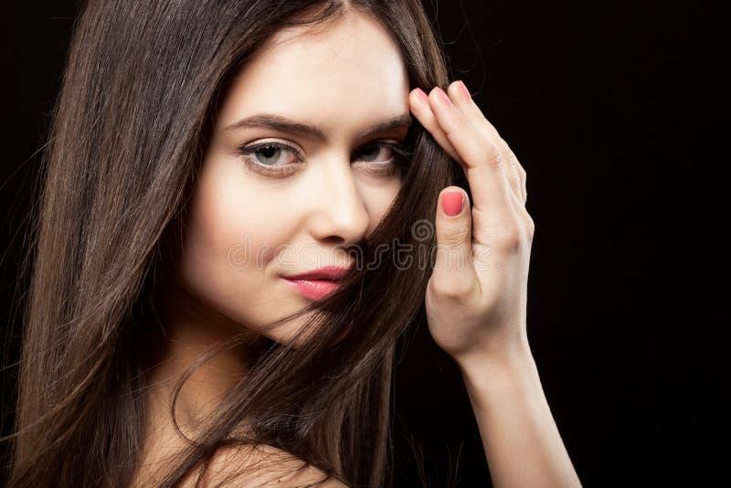 Het gezicht van de schoonheid van mooie vrouw royalty-vrije stock fotografie