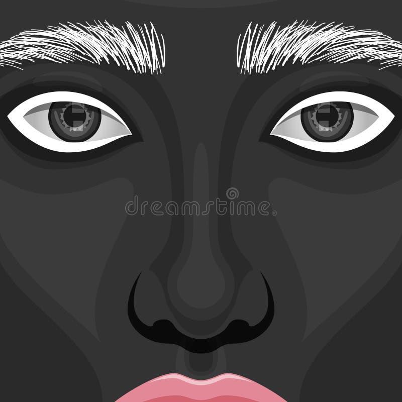 Het Gezicht van de schoonheidsvrouw met creatieve Make-up vector illustratie