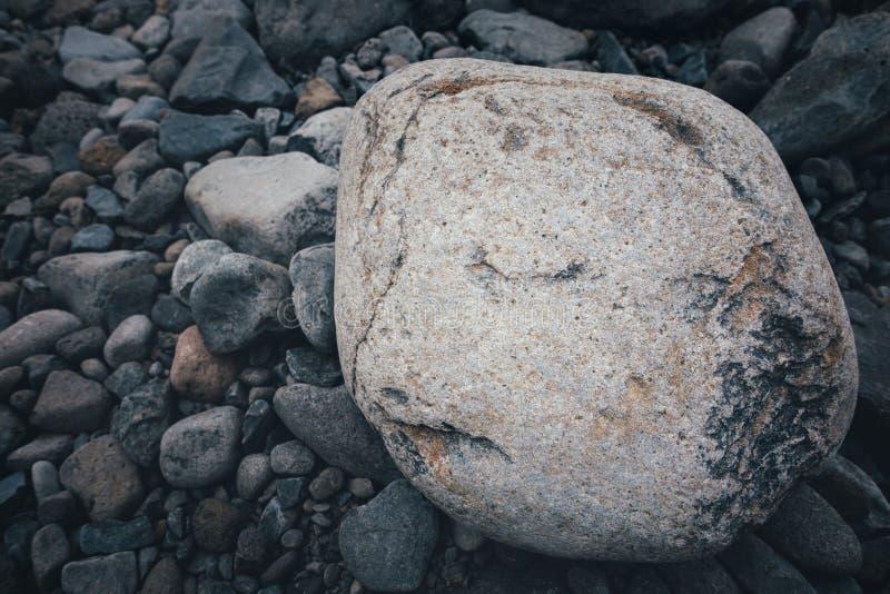 Het gezicht van de steen stock afbeelding