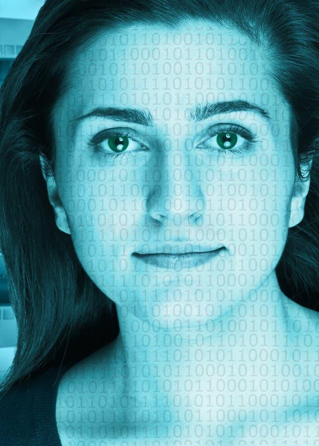Het gezicht van de technologie royalty-vrije stock afbeeldingen
