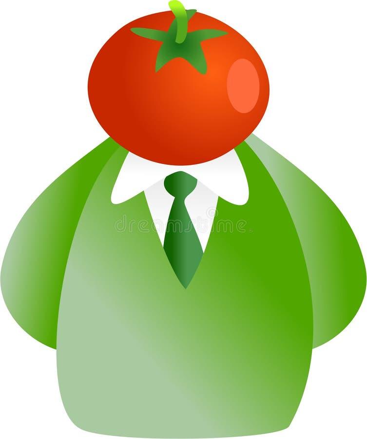 Het gezicht van de tomaat vector illustratie