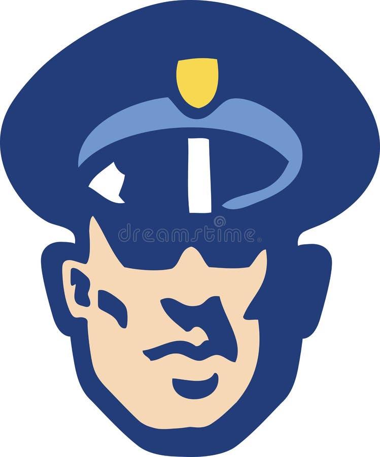 Het gezicht van de veiligheidsagent vector illustratie