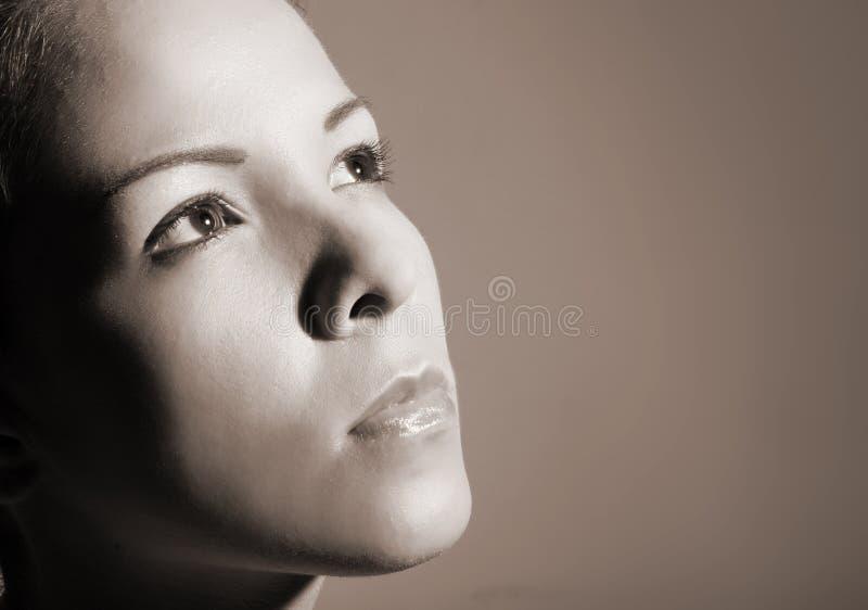 Het gezicht van de vrouw royalty-vrije stock foto's