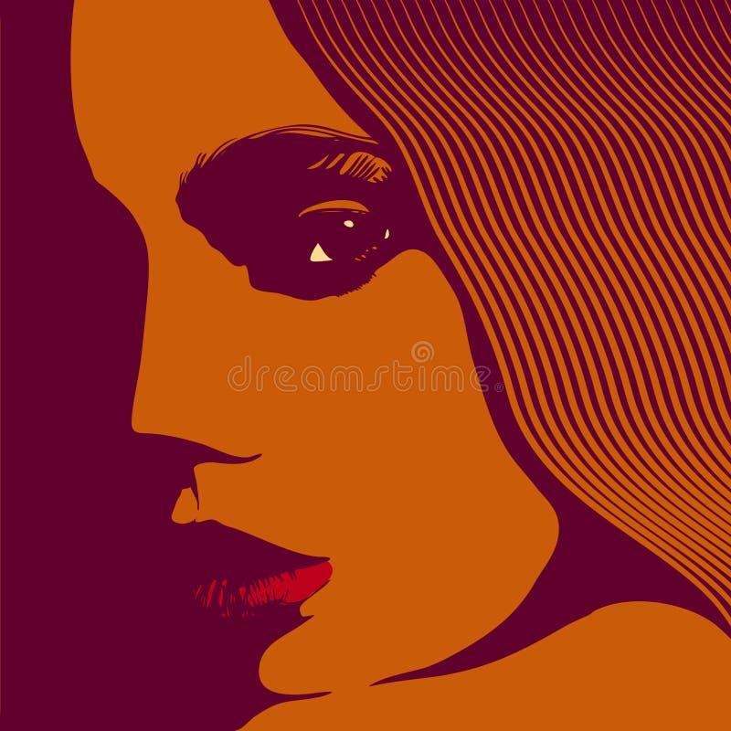 Het gezicht van de vrouw vector illustratie