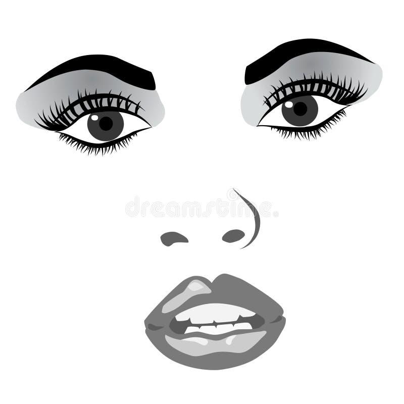 Het gezicht van de vrouw stock afbeelding