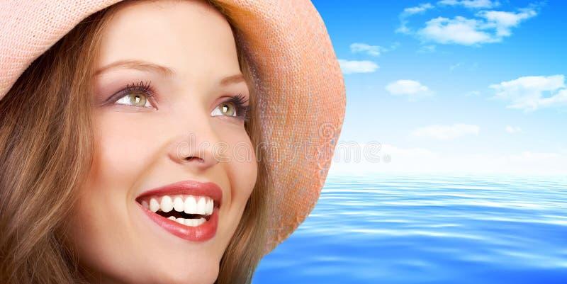 Het gezicht van de vrouw stock fotografie
