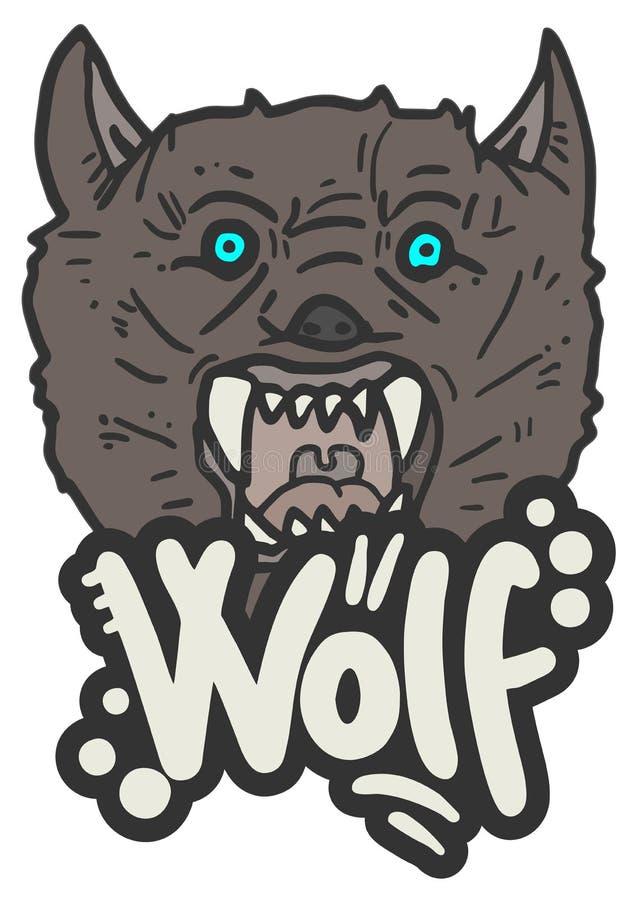 Het gezicht van de wolf royalty-vrije illustratie