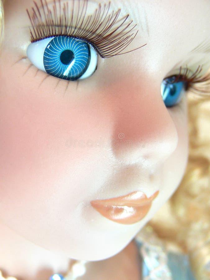 Het gezicht van Doll royalty-vrije stock foto's