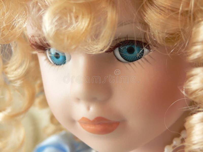 Het gezicht van Doll royalty-vrije stock fotografie