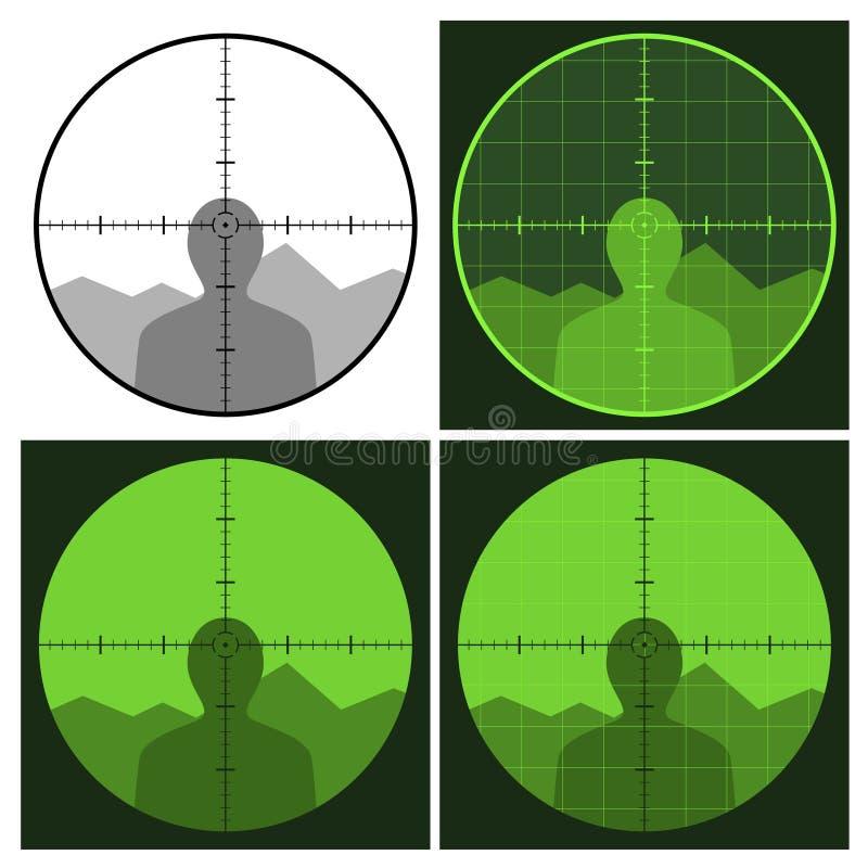 Het gezicht van het kanon crosshair vector illustratie